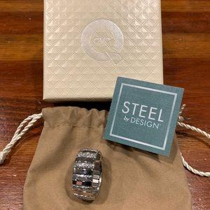Steel by Design Stretch Glitter Ring